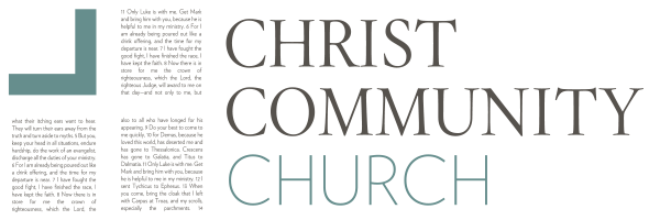logo for Christ Community Church of Wilmington, NC