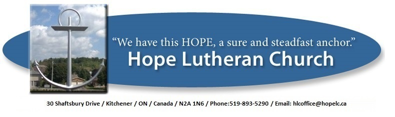 logo for HOPE LUTHERAN CHURCH
