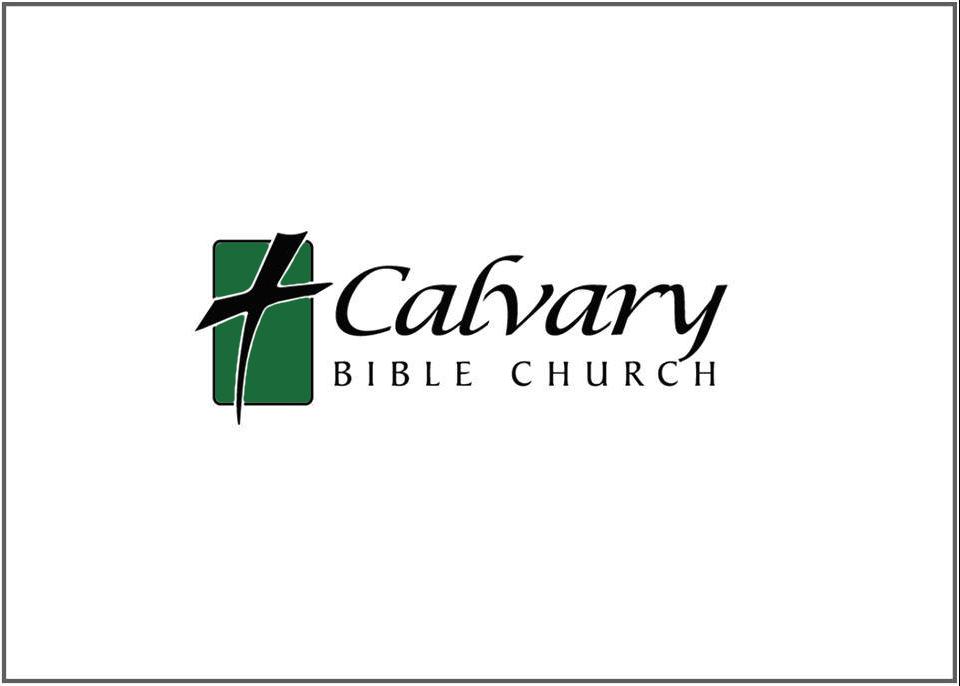 logo for Calvary Bible Church